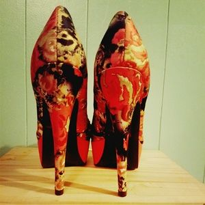 Floral/Animal Platform Stilletos